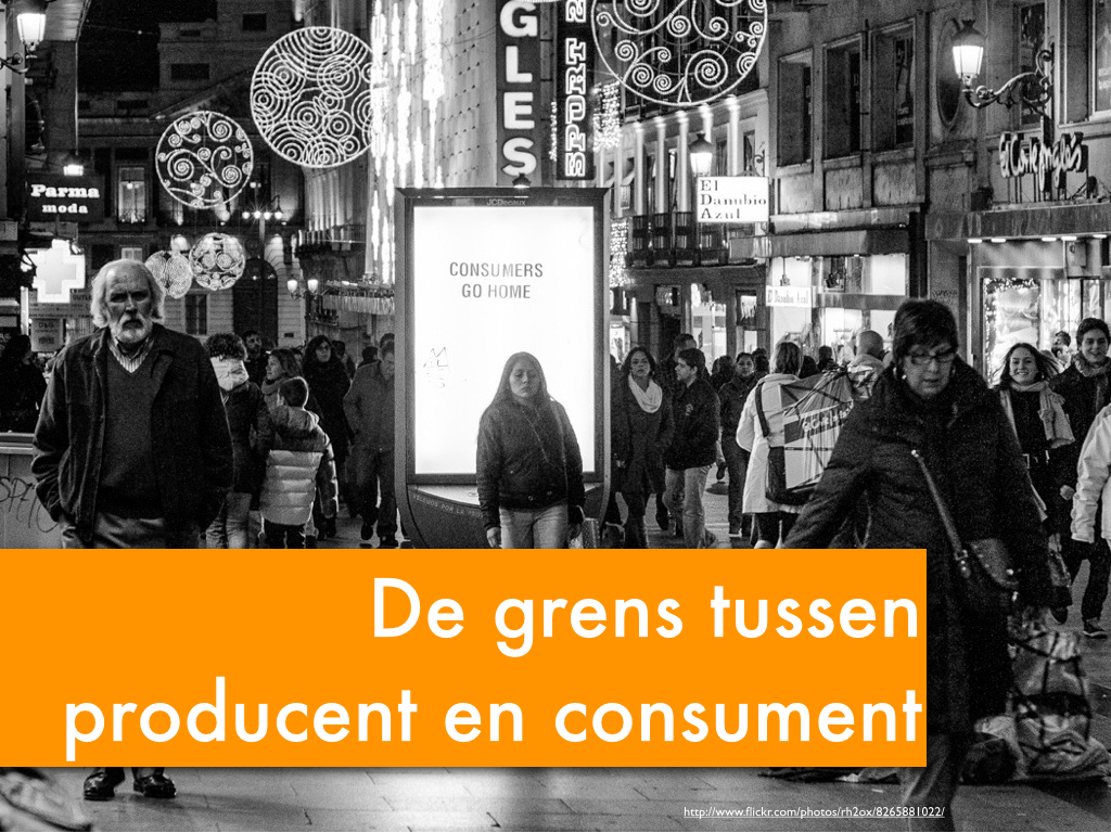 De grens tussen producent en consument - Thesis One